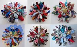 Patchwork Flower corsage