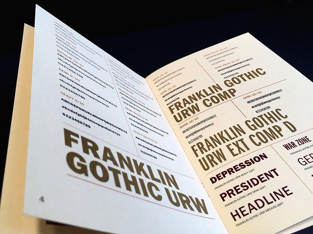 Franklin Gothic Type Specimen