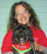 Geelong Team Excellence Award winner - Kath Phillips & Banjo