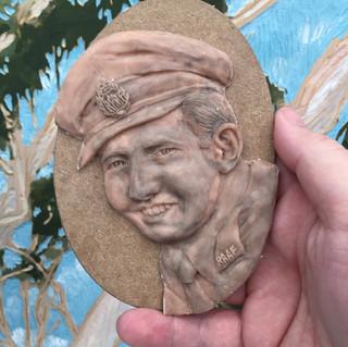 dad portrait poly clay
