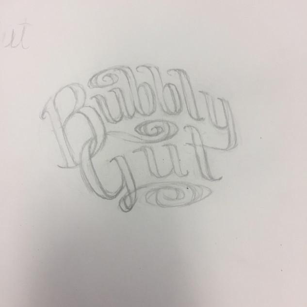 bubbly label sketch
