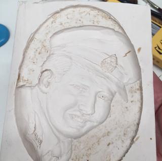 dad portrait latex mould