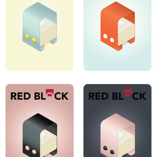 red block lamp variations