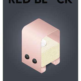 red block lamp