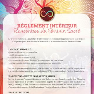 Règlement Intérieur RFS