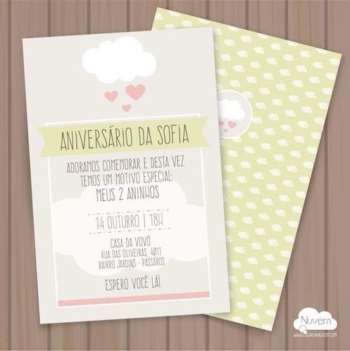 Convite Nuvem De Amor Para Imprimir