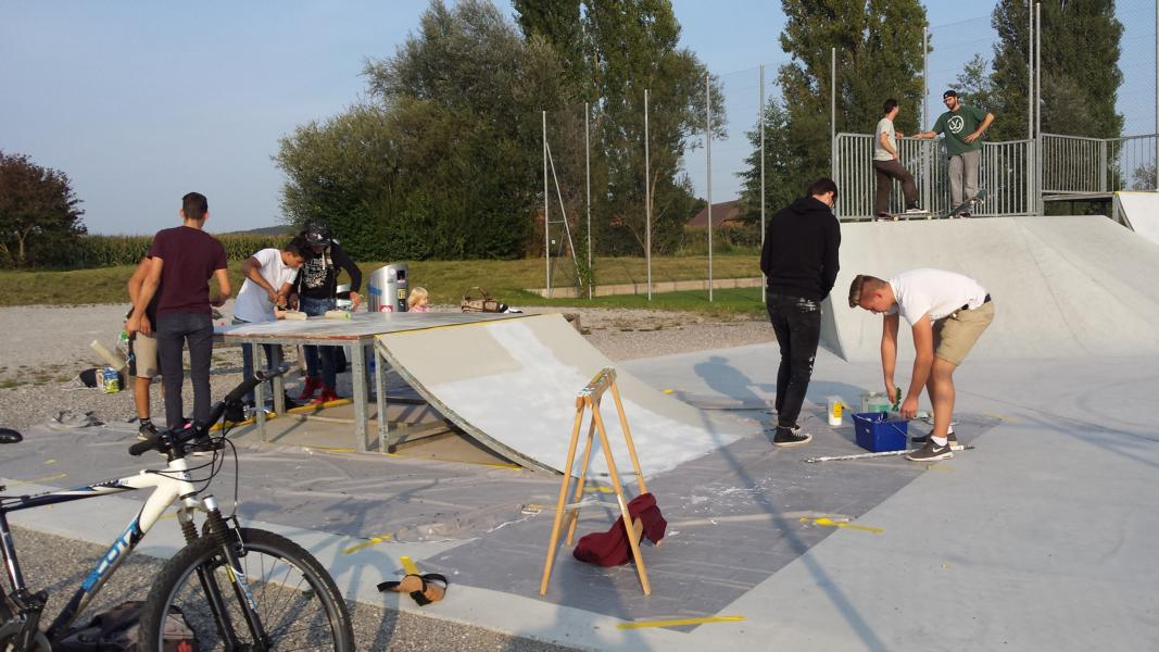 Streichen im Skatepark
