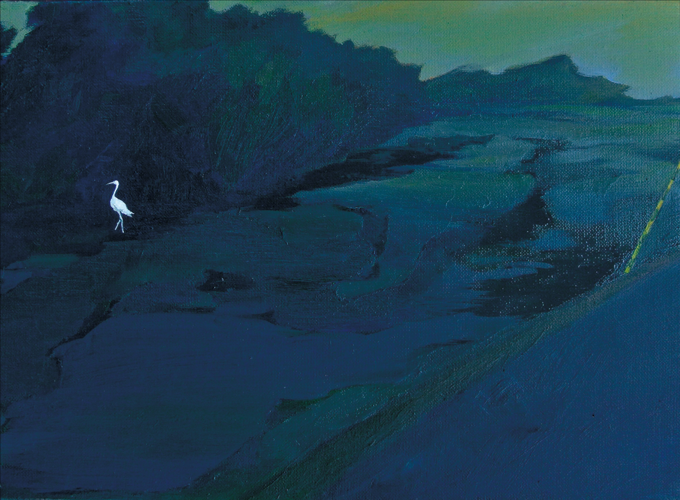 相馬城跡堀の鷺  2015