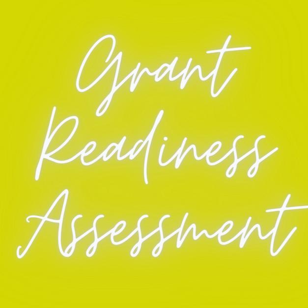 Grant Readiness Assessment