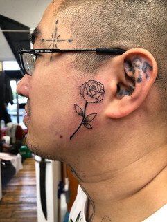 Rose Face Tattoo