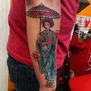 Geisha by @sinercaballero #tattoo#ink#ne