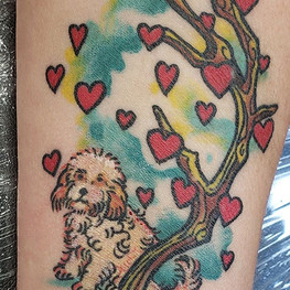 Puppy Love by @elydoestattoos . . . #tat