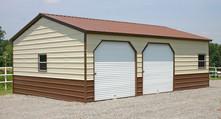 Metal garage, 2 car garage