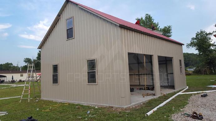 prefab metal garage with loft
