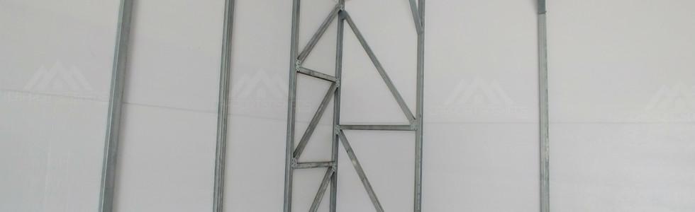 the inside corner in a 30x50x12 Metal Garage