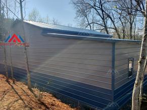 left back corner view of the 50x30 metal barn