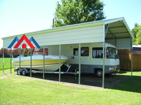 Metal RV and Boat Cover