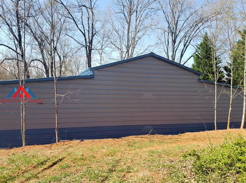 back view of the 50x30 metal barn