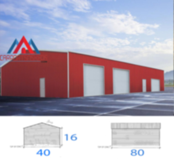 40x80x16 commercial garage