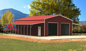 Metal buildng with Lean to sheds