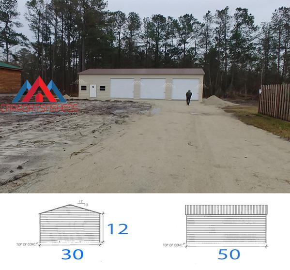 78 30x50x12 Metal Garage.jpg