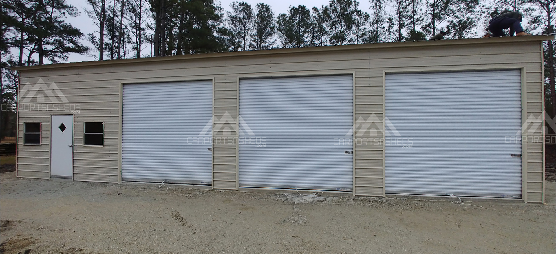 30x50x12 Metal Garage front view
