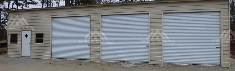 30x50x12 Metal Garage front view
