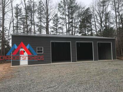 3 Door Prefab Metal Garage+Office