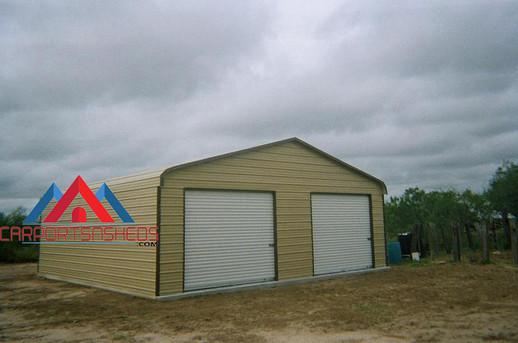 2 Door Regular Style Prefab Metal Garage