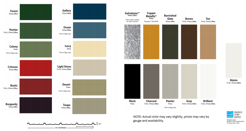 Color Chart extended color chart