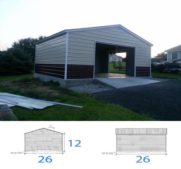 Custom 1 car garage