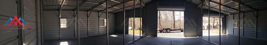 Interior of the 50x30x14 metal barn