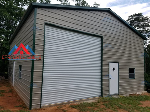 30x36x14 Prefab Metal Garage