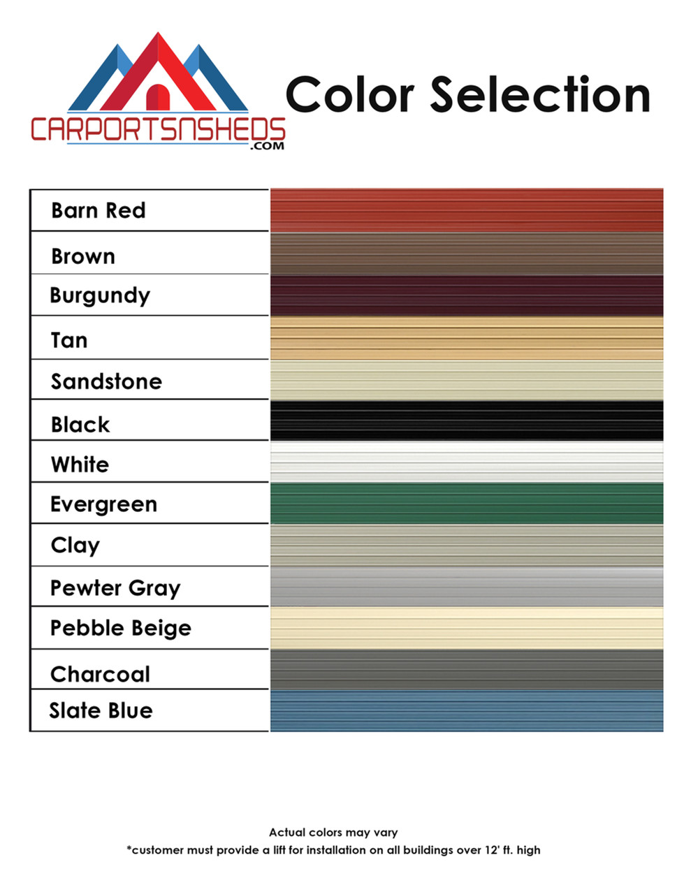 Color selection for carpot