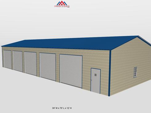 5 Door Metal Garage