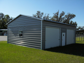 metal garage, 2 car vertical garage