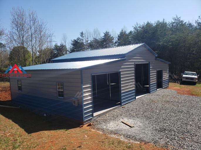 50x30x14 prefabricated metal barn