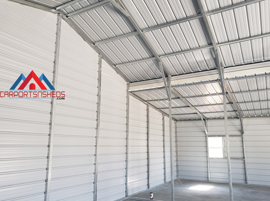 interior corner of 30x50 metal barn