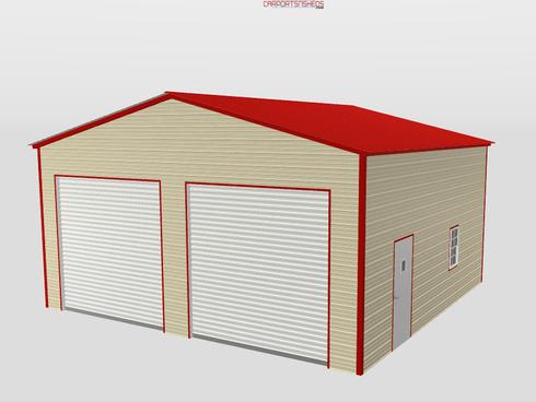 2 Door Metal Garage