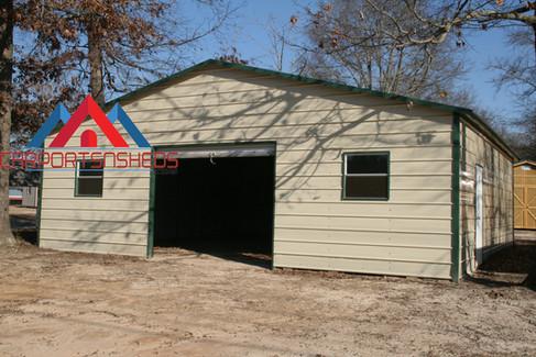 Single Door Prefab Metal Garage