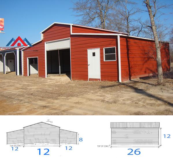 36x26x12 Barn
