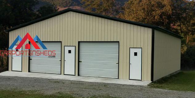 5 Door Prefab Metal Garage
