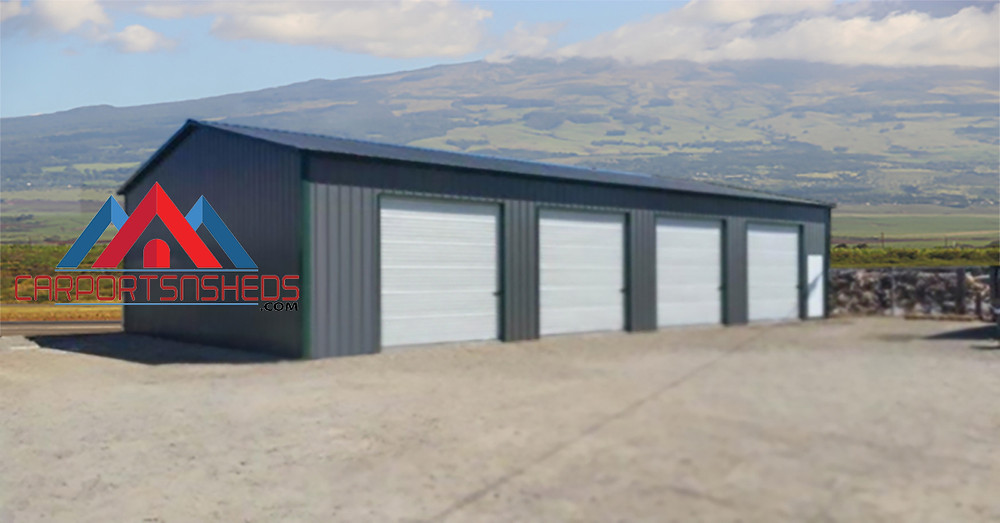 4 car garage with vertical sides and ends