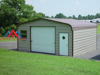 Regular Style Single Door Prefab Metal Garage