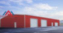 Commercial prefabricated metal garage