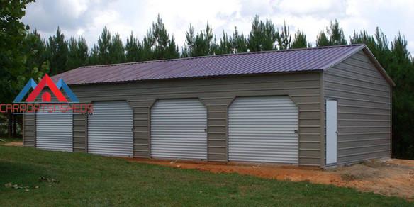 4 Car Prefab Metal Garage