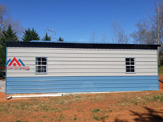 right side view of a 50x30 metal barn