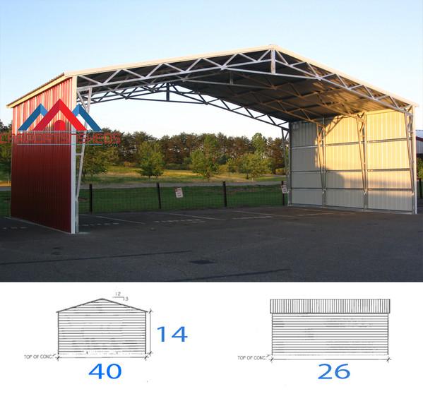 40x26x14 Clear span unit