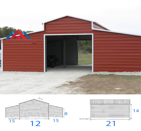 Ren Barn with drive through frame outs