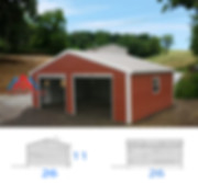 26x26x11 Prefabricated Metal Garage